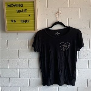 🎉MOVING SALE American Eagle black tee size L🎉